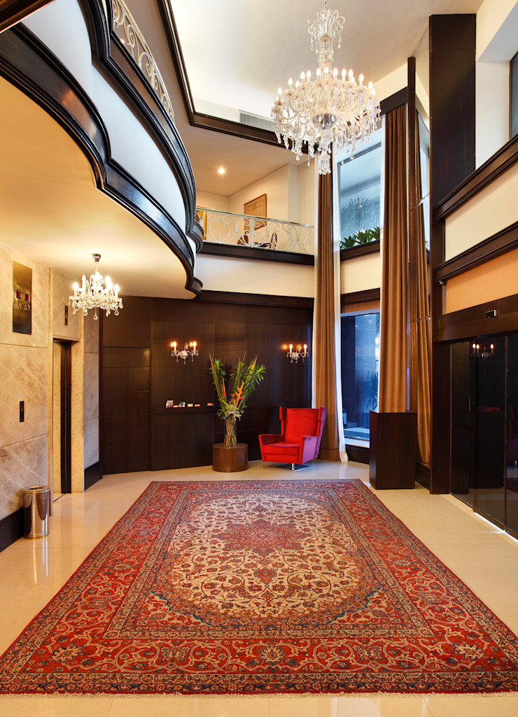 Hotel Novo Mundo – Lobby Hotéis modernos por DG Arquitetura + Design Moderno