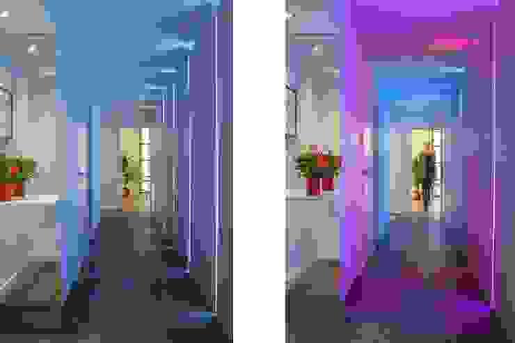 canalside flat : camden Minimalist corridor, hallway & stairs by Cassidy Hughes Interior Design Minimalist