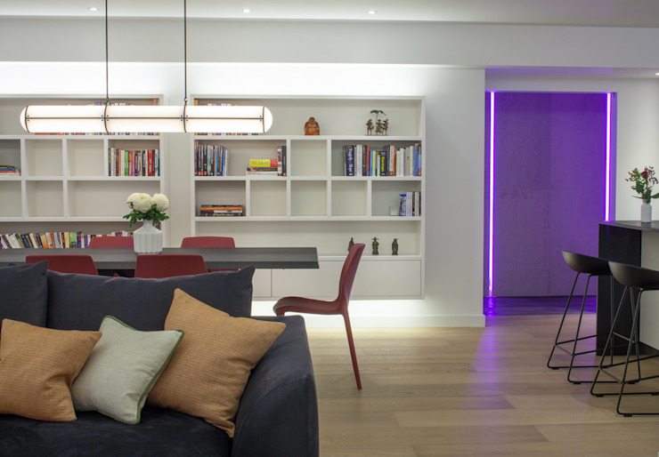 canalside flat : camden Minimalist dining room by Cassidy Hughes Interior Design Minimalist