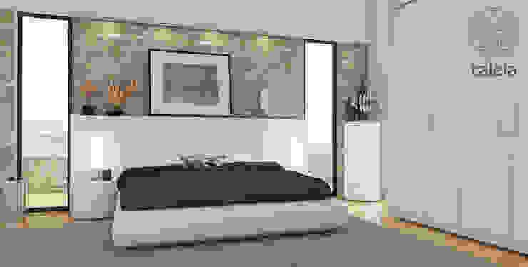 Camera da letto Camera da letto moderna di Taleia Moderno