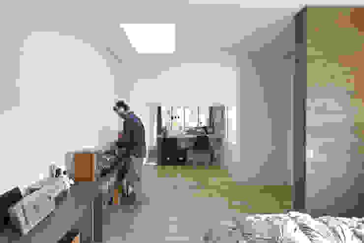 地形に寄り添う家 モダンデザインの 多目的室 の 一級建築士事務所ROOTE モダン