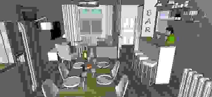 une pièce à vivre multi espaces de style scandinave Maisons scandinaves par Agence Duo Deco Paris Scandinave