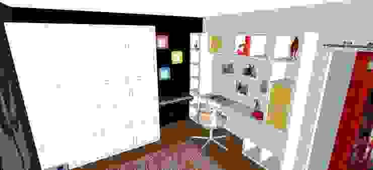 une chambre d'adolescente colorée Chambre d'enfant moderne par Agence Duo Deco Paris Moderne