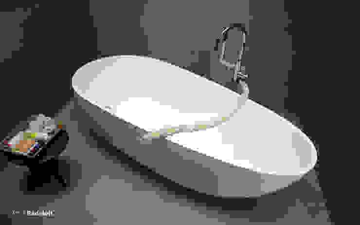 Freistehende Badewanne BW-01-L: modern  von Badeloft GmbH - Hersteller von Badewannen und Waschbecken in Berlin,Modern
