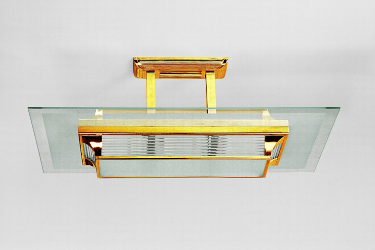 01 Deckenleuchte Paris (Messing) von Art Deco Schneider Ausgefallen