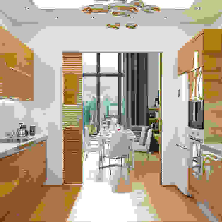 Дизайн дома в современном стиле Кухня в стиле модерн от Студия дизайна Interior Design IDEAS Модерн
