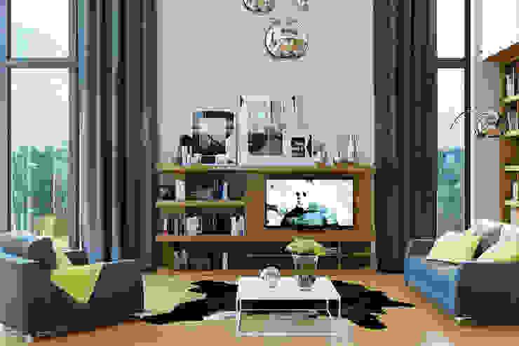 Дизайн дома в современном стиле Гостиная в стиле модерн от Студия дизайна Interior Design IDEAS Модерн
