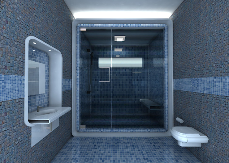 Salle de bain minimaliste par Preetham Interior Designer Minimaliste