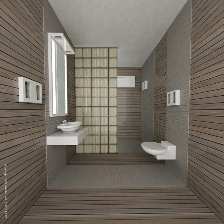 Bathroom interiors Minimalist bathroom by Preetham Interior Designer Minimalist