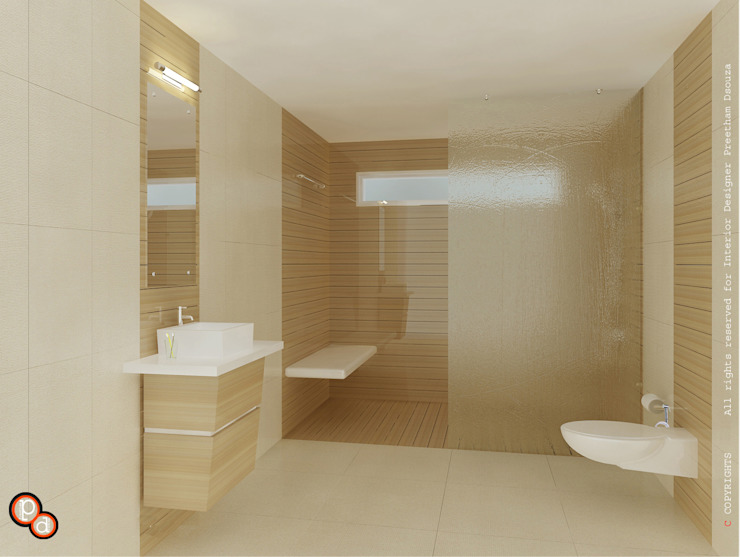 Bathroom interiors Minimalist style bathroom by Preetham Interior Designer Minimalist