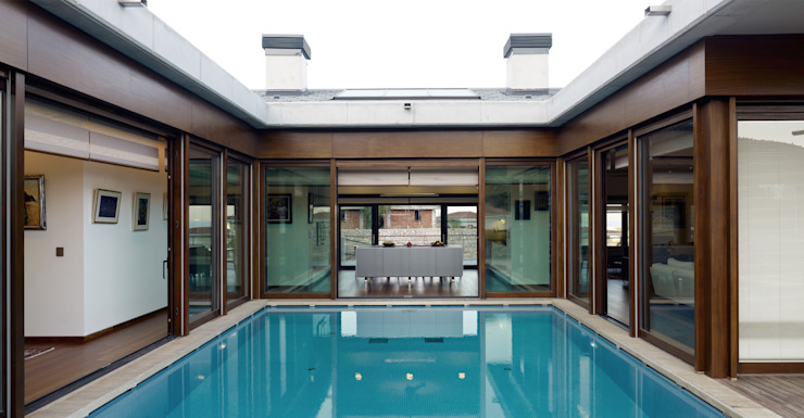 Piscinas de estilo moderno de TEGET Mimarlık Moderno
