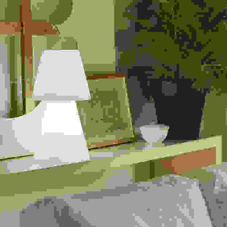 Lampe à poser Casa Light 45cm Led sans fil avec télécommande pour l'intérieur ou l'extérieur par Ecreativ Moderne
