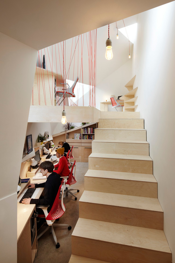 The Green Studio Modern study/office by Fraher and Findlay Modern