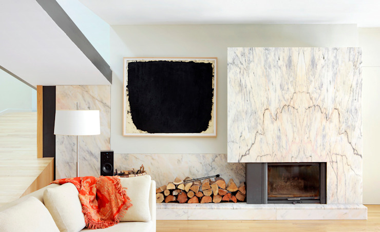 Salas de estar modernas por Hoz Fontan Arquitectos Moderno