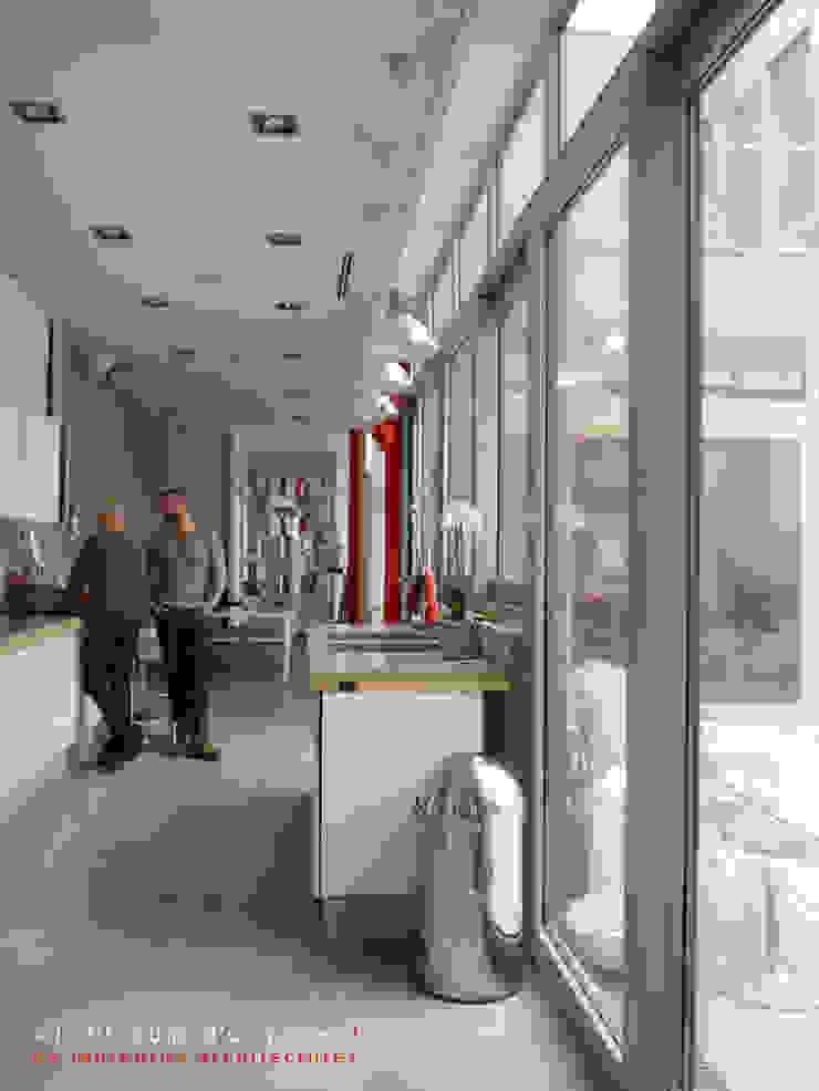 L'immatériel Cuisine moderne par dE LAURENTIIS Architectures, le fil rouge d'un projet ! Moderne