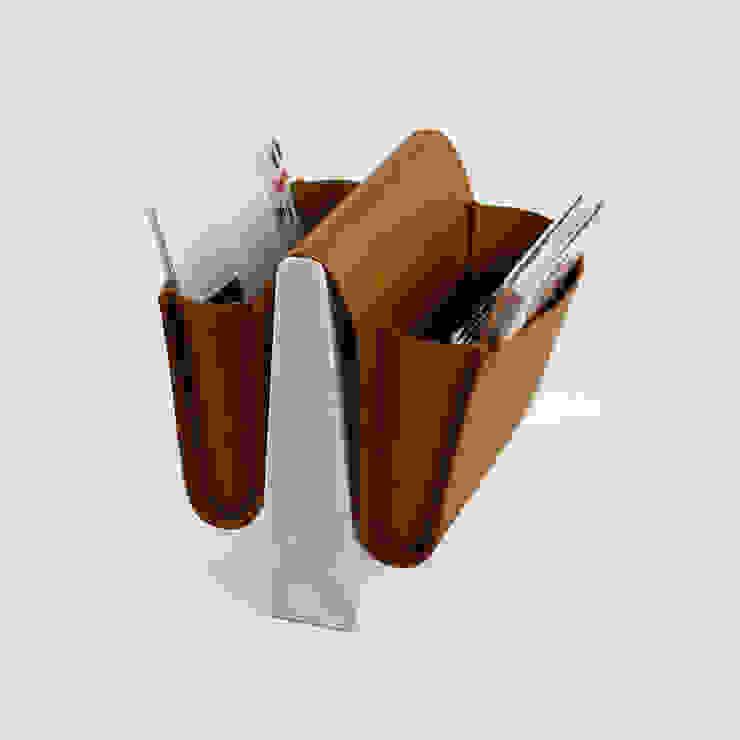 Saddle Magazine Rack - Marble: modern  by Noble and Wood, Modern