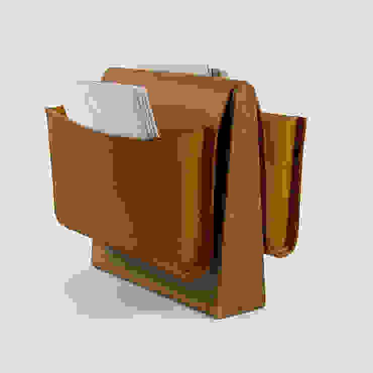 Saddle Magazine Rack - Walnut: modern  by Noble and Wood, Modern