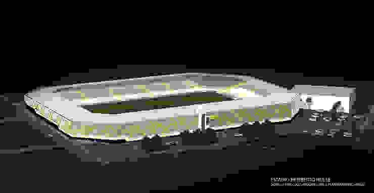 Vista aérea Rua Leone Perassoli Fitness por Douglas Piccolo Arquitetura e Planejamento Visual LTDA.