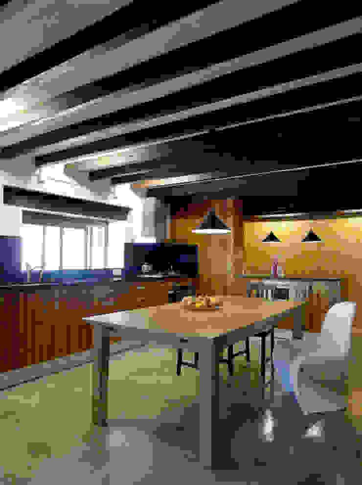 CASA CAN FOGARADA Comedores de estilo rural de Miel Arquitectos Rural