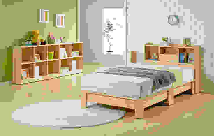 삼나무 원목 헤드수납형 침대: 심서방가구의 현대 ,모던