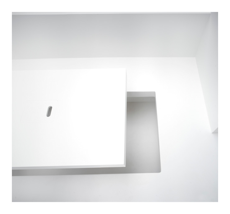 White on White Dining room by Gianni Botsford Architects