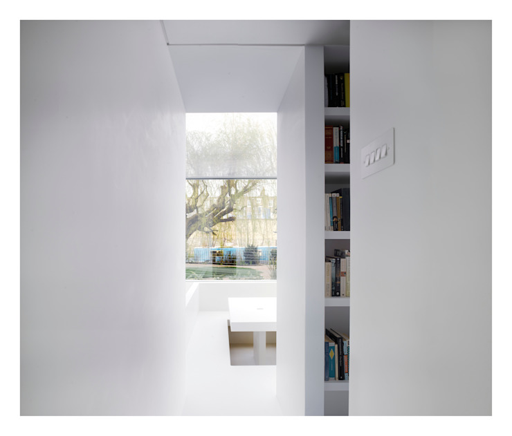 White on White Living room by Gianni Botsford Architects