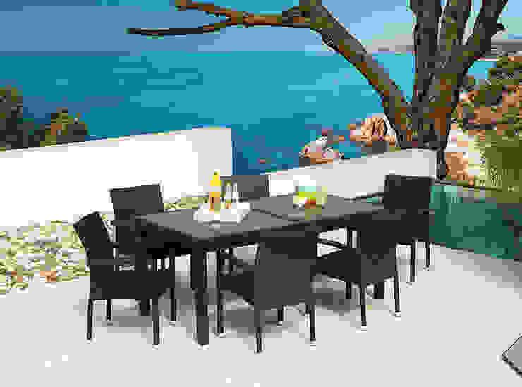 Conjunto comedor asturias de Jardini -Muebles de jardín Mediterráneo