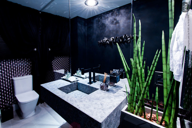 LAVABO BLACK por injy Interior Design Eclético