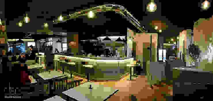 BurBaCa #1 burger bakery cafè Gastronomia in stile industrial di Davide Coluzzi DAZ architect Industrial