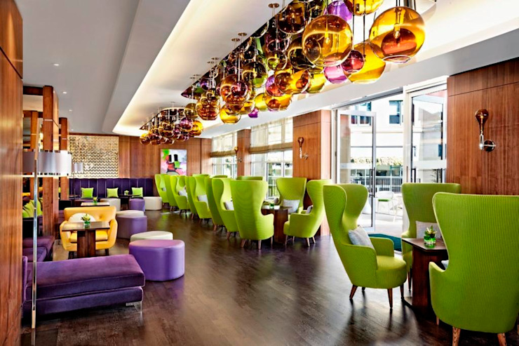 Sheraton Grand Edinburgh - One Square Bar by MKV Design Сучасний