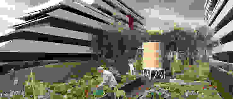 105 Logements, commerces, bureaux, jardins Locaux commerciaux & Magasin modernes par Christian Larroque Moderne