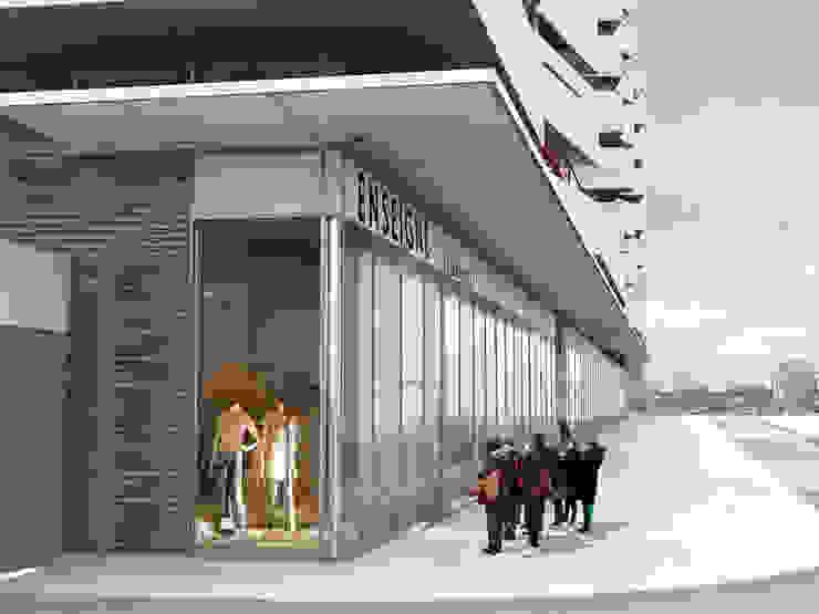 Vue sur les commerces Locaux commerciaux & Magasin modernes par Christian Larroque Moderne