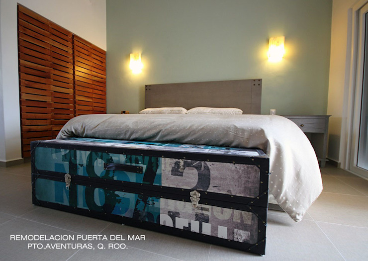 Modern style bedroom by axg arquitectos Modern