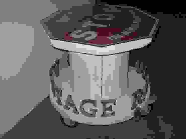 MESA BOBINA BLANCA:  de estilo industrial de muebles radio vintage, Industrial
