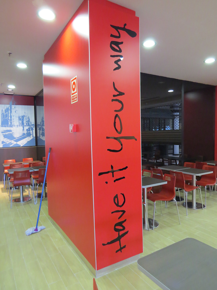 Acondicionamiento de local para restaurante de comida rapida de Prodereco Moderno