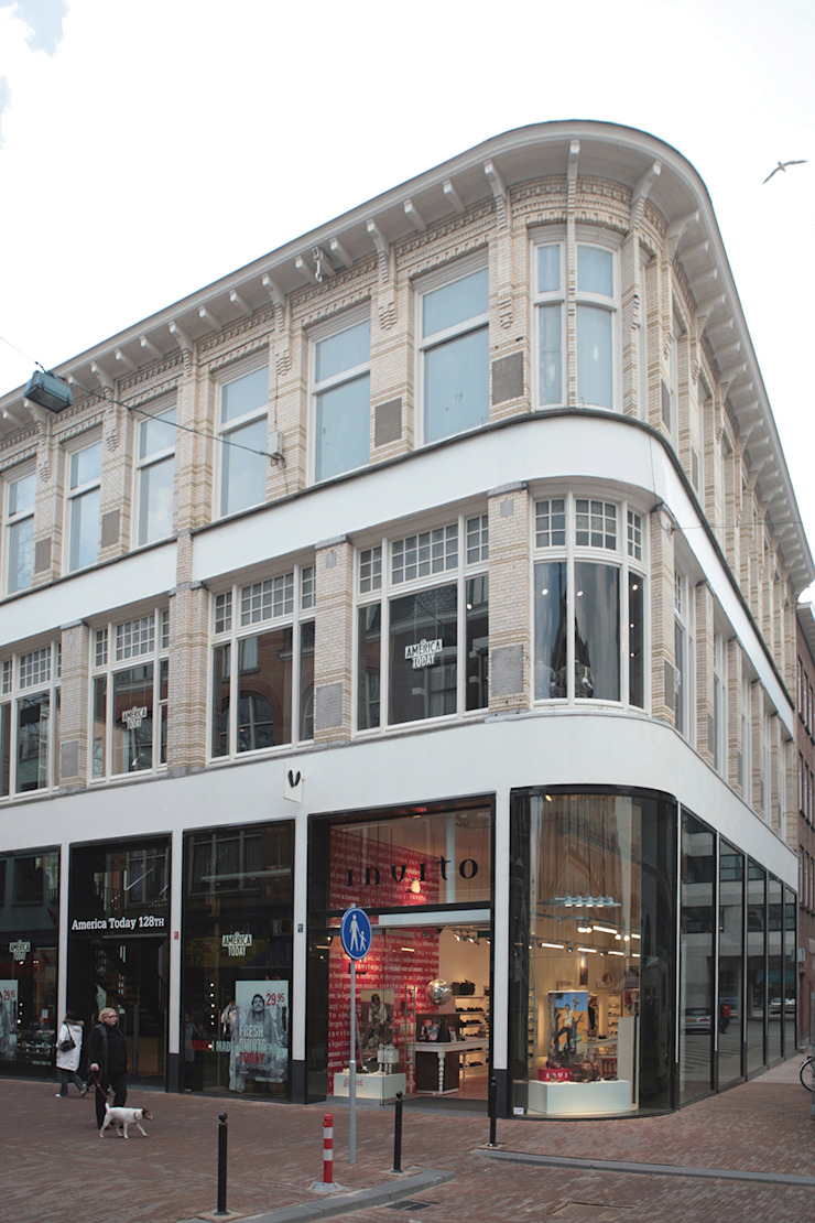 renovatie winkelpand Oude Binnenweg Winkelruimten van Linea architecten
