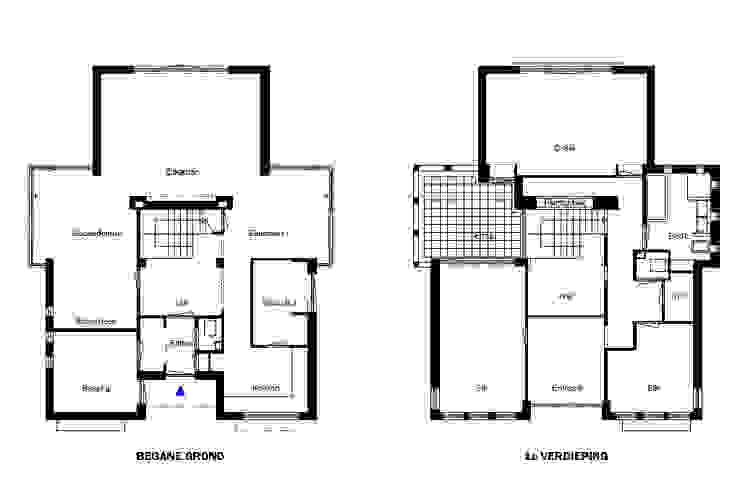 plattegronden Moderne huizen van PHOENIX, architectuur en stedebouw Modern