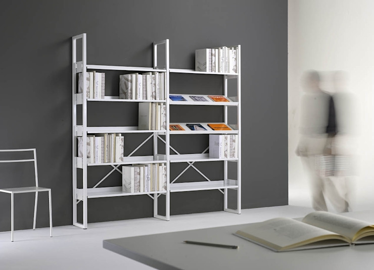 Libreria Quadrotto:  in stile industriale di Emmesystem by Emme Italia, Industrial