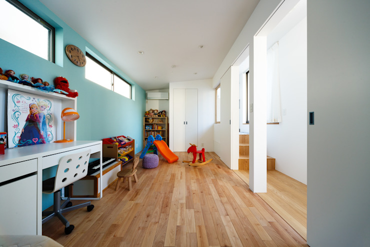 haus-wave: 一級建築士事務所hausが手掛けた子供部屋です。,北欧