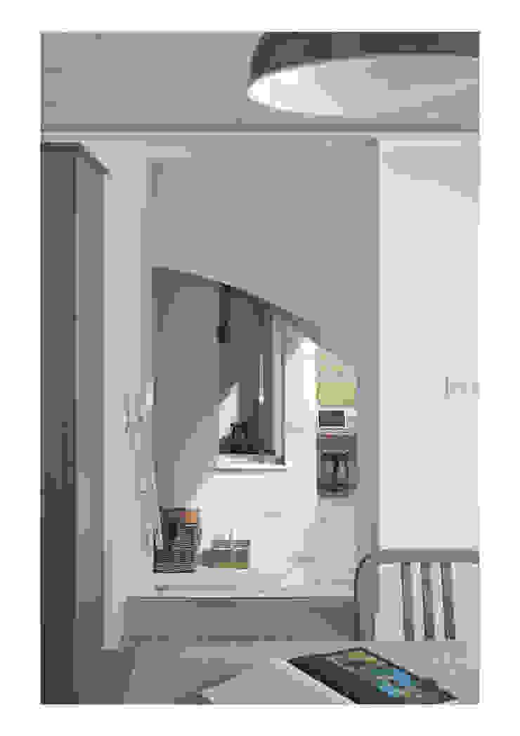 House No. 7 Pasillos, vestíbulos y escaleras rústicos de Denizen Works Rústico
