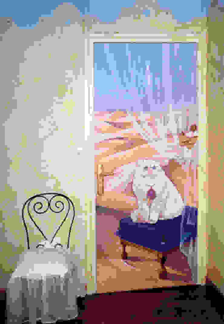 Trompe-l'œil chat par Creamint Moderne