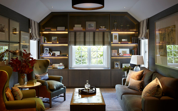 Country House, Hampshire Salas de estar campestres por Helen Green Design Campestre