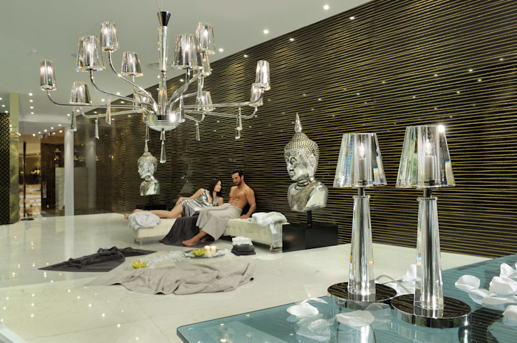 The crispness and clarity of bold Italian crystal: modern  by Italian Lights and Furniture Ltd, Modern