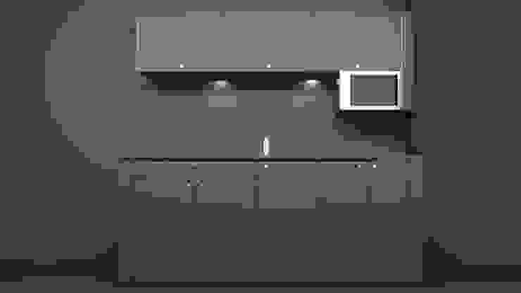 Rendering Pantry Moderne Arbeitszimmer von Squaring Modern