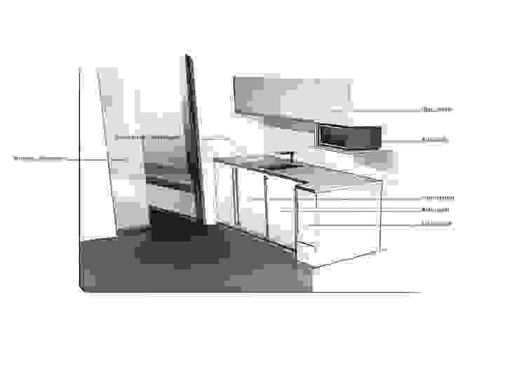 Entwurfsskizze Pantry Moderne Arbeitszimmer von Squaring Modern