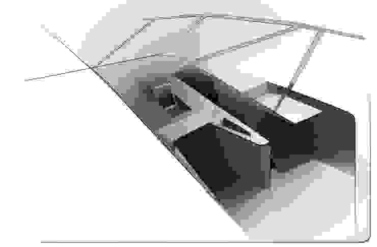 Skizze Armaturenbrett Moderne Arbeitszimmer von Squaring Modern
