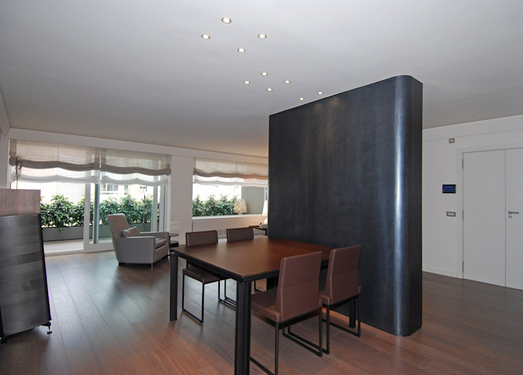 Living & Dining room FG ARQUITECTES Modern dining room