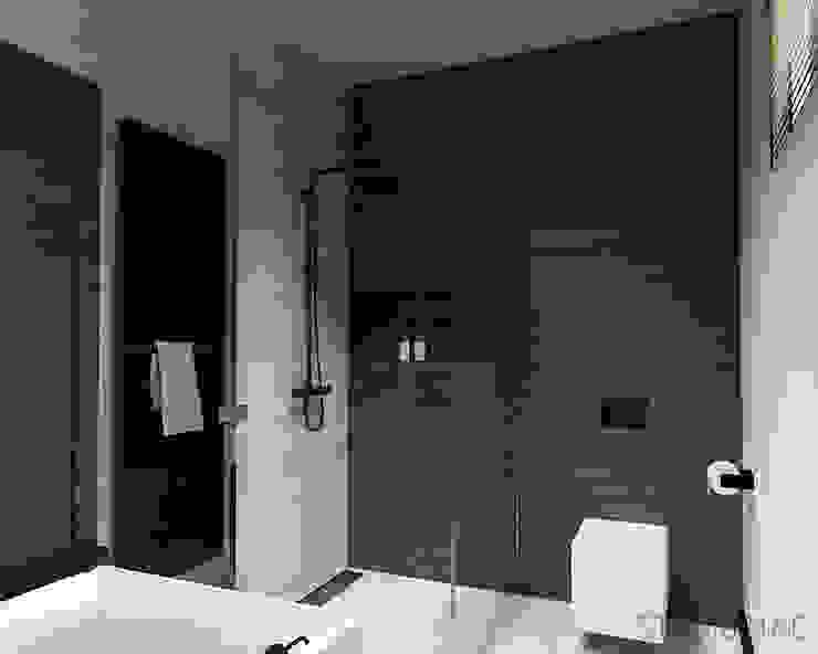 Projekt wnętrz domu jednorodzinnego Nowoczesna łazienka od STUDIO MAC Nowoczesny