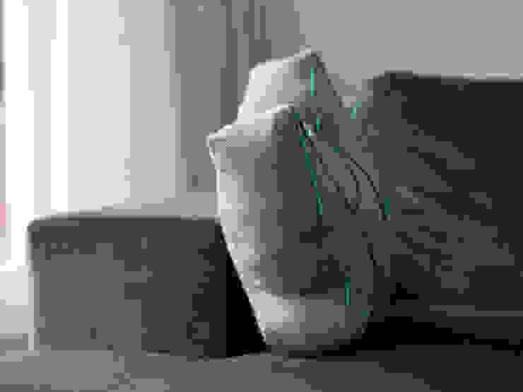 Schönes Profil: Kissen von der Seite von Nähjournal 'Sauber eingefädelt' Skandinavisch