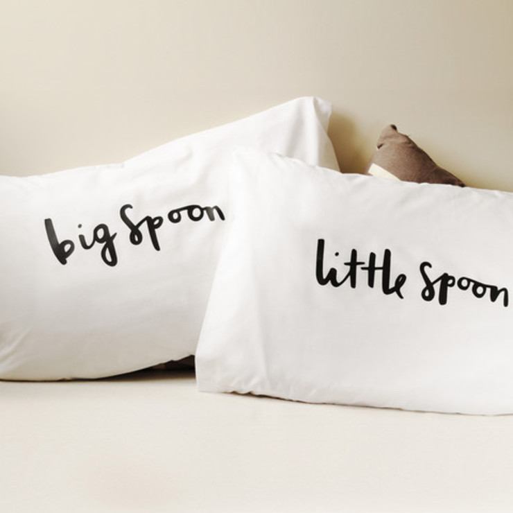 Spooning pillows by Old English Company